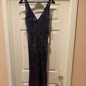 Lulus Canterbury Navy Blue Sequin Maxi Dress